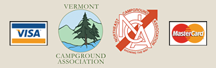 Char-Bo Campground accepts Visa and MasterCard and is a member of the Vermont Campground Association and the Northeast Campground Association