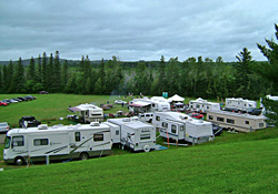 Overview of campsites at Char-Bo Campground